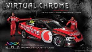 DNA™ Virtual Chrome™ - on Triple Eight Racing V8 Supercar