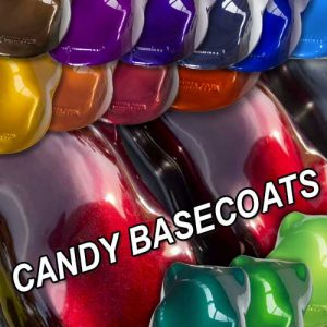 DNA Candy Basecoat painted shapes